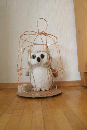 Von Luisa: Selbstgemachter Eulenkäfig