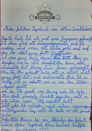 Das geheime Tagebuch von Albus Dumbledore von Caterina Z.