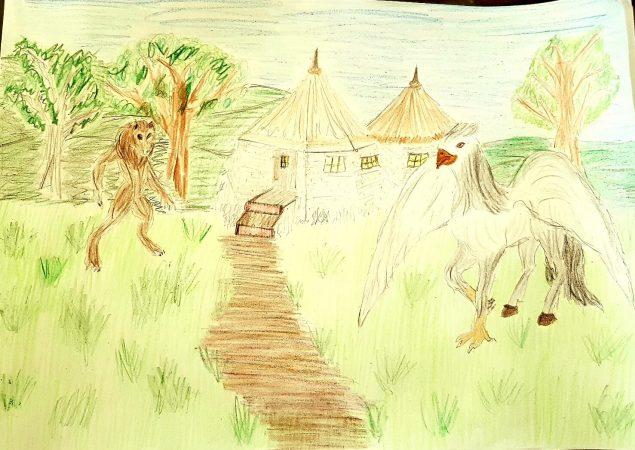 Hagrids Hütte Zeichnung von Gabi S.