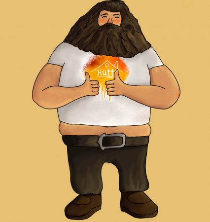 Hagrid im Hütti-Shirt von Michelle